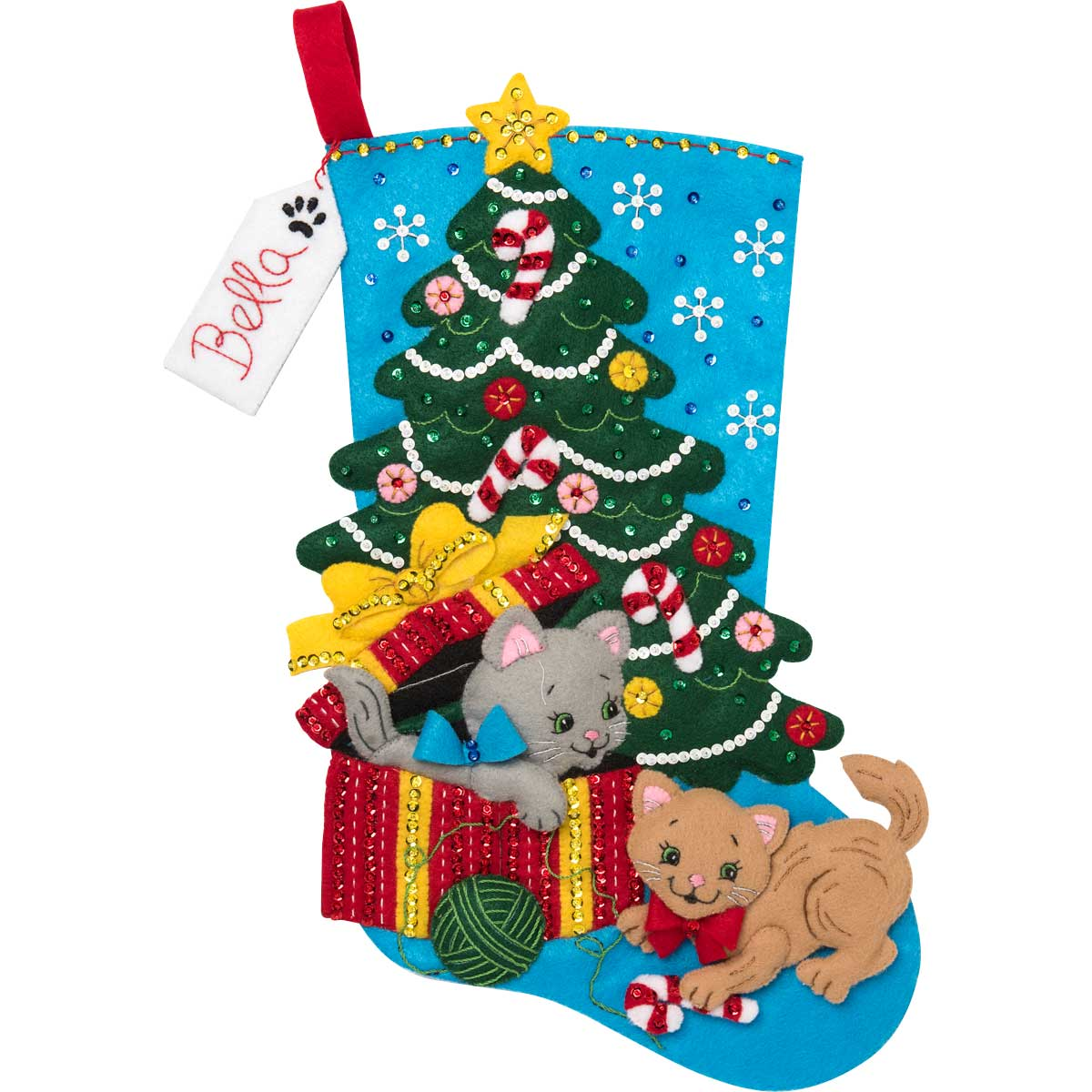 Bucilla ® Seasonal - Felt - Stocking Kits - The Pawfect Gift - 86899E