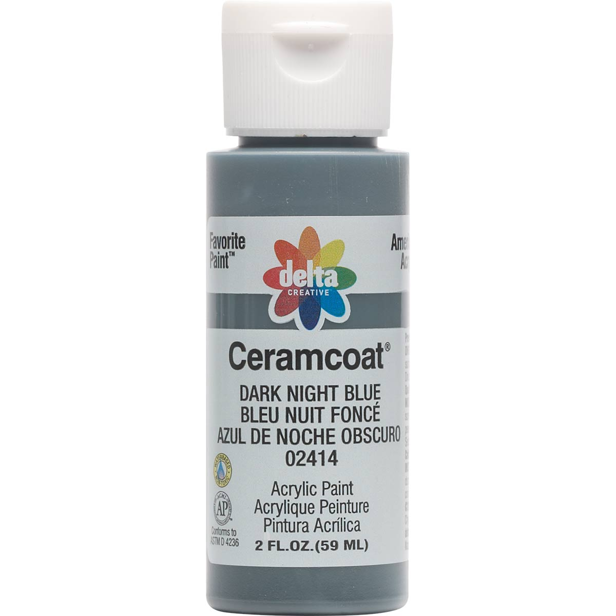 Delta Ceramcoat ® Acrylic Paint - Dark Night Blue, 2 oz. - 024140202W