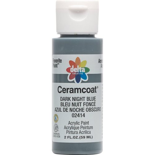 Delta Ceramcoat ® Acrylic Paint - Dark Night Blue, 2 oz.