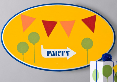 Handmade Charlotte This Way To The Party Sign