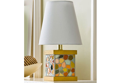 Mosaic Paint Chip Lamp Base