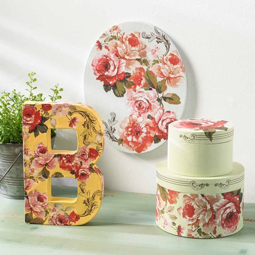 Floral Letter, Boxes and Canvas
