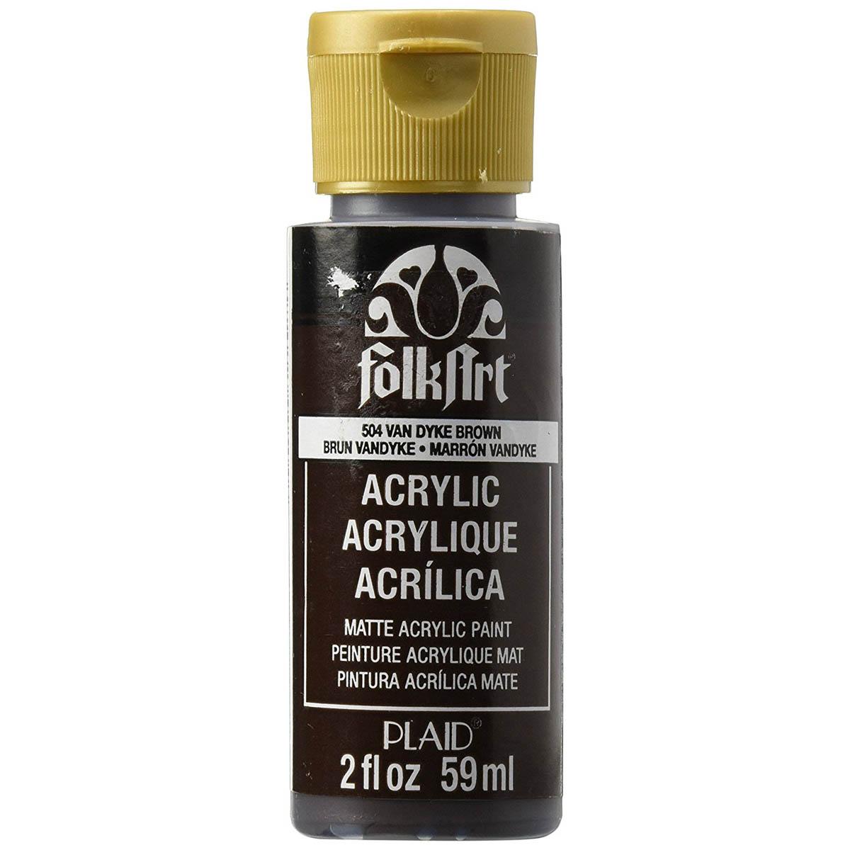 FolkArt ® Acrylic Colors - Vandyke Brown, 2 oz.