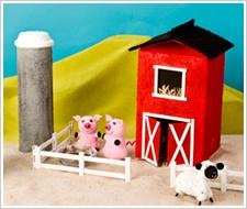 Texture Paint Barn, Silo & Fence