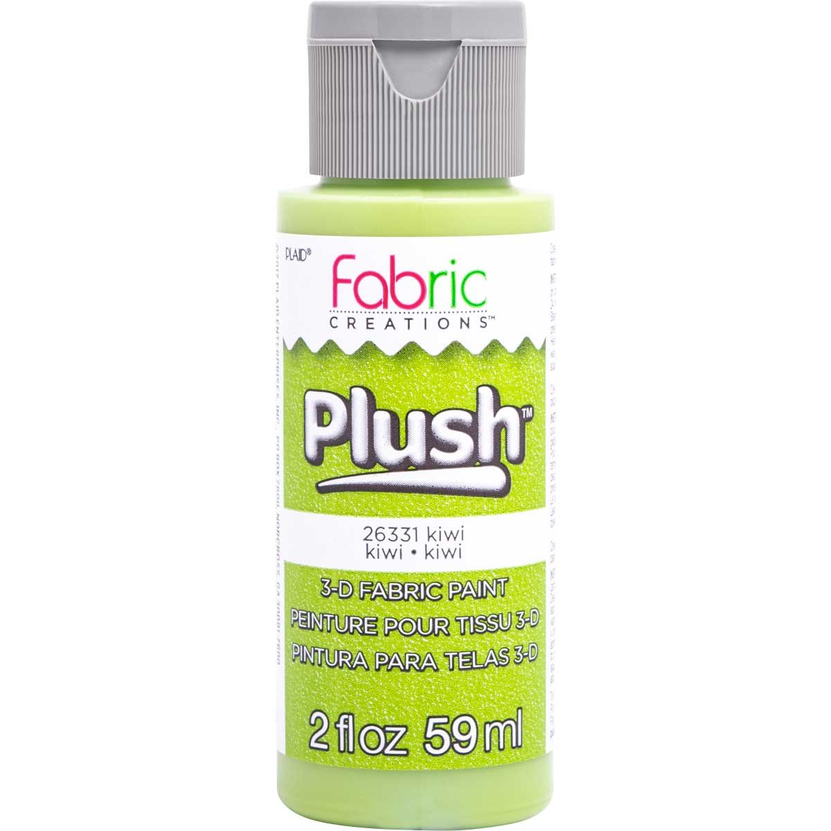 Fabric Creations™ Plush™ 3-D Fabric Paints - Kiwi, 2 oz.