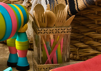 Handmade Charlotte Stenciled Bohemian Cutlery