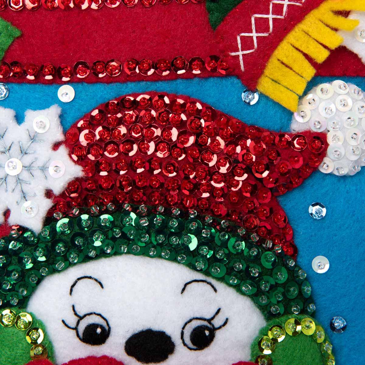 Bucilla ® Seasonal - Felt - Home Decor - See No Evil Snowmen Wall Hanging - 89264E