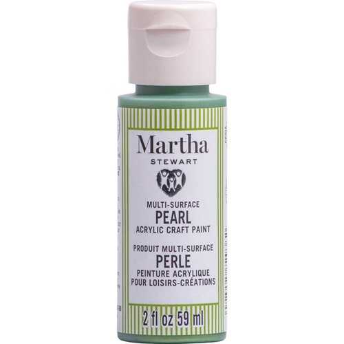 Martha Stewart ® Multi-Surface Pearl Acrylic Craft Paint CPSIA - Enchanted Green, 2 oz. - 72936