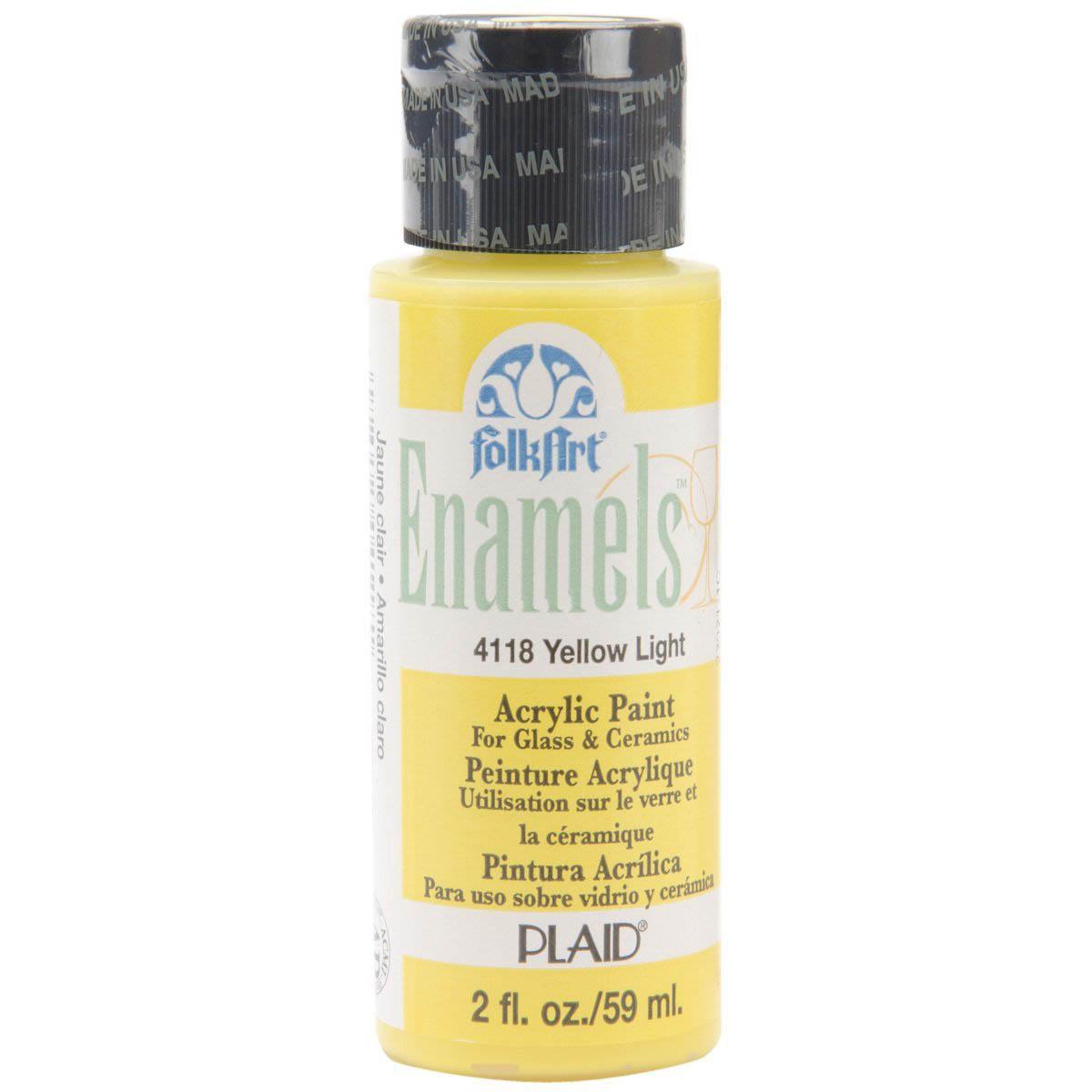 FolkArt ® Enamels™ - Yellow Light, 2 oz. - 4118
