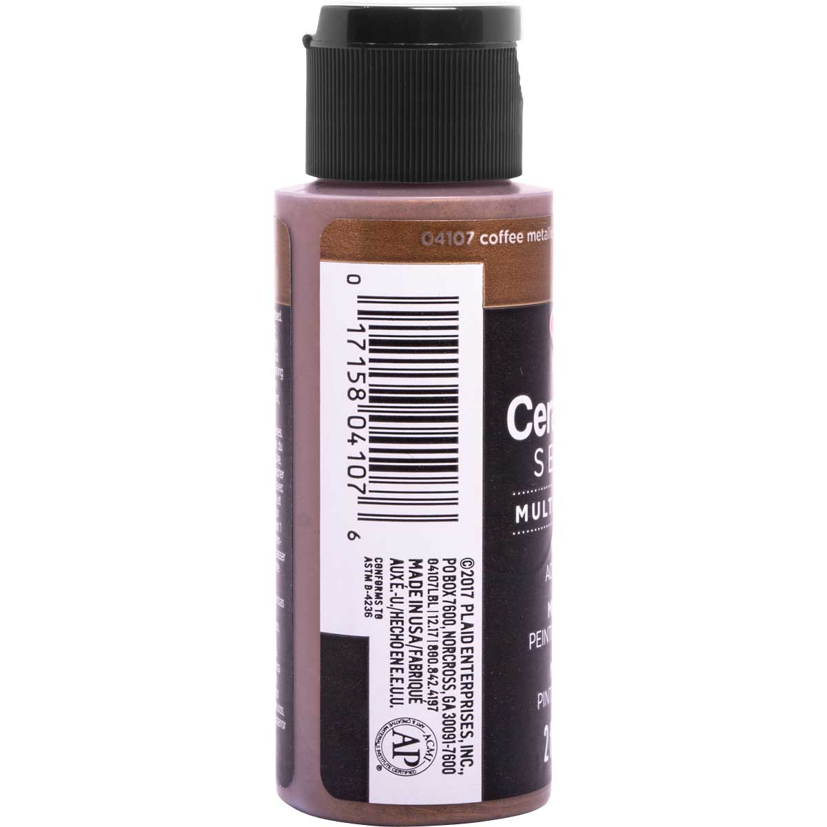 Delta Ceramcoat ® Select Multi-Surface Acrylic Paint - Metallic - Coffee, 2 oz.