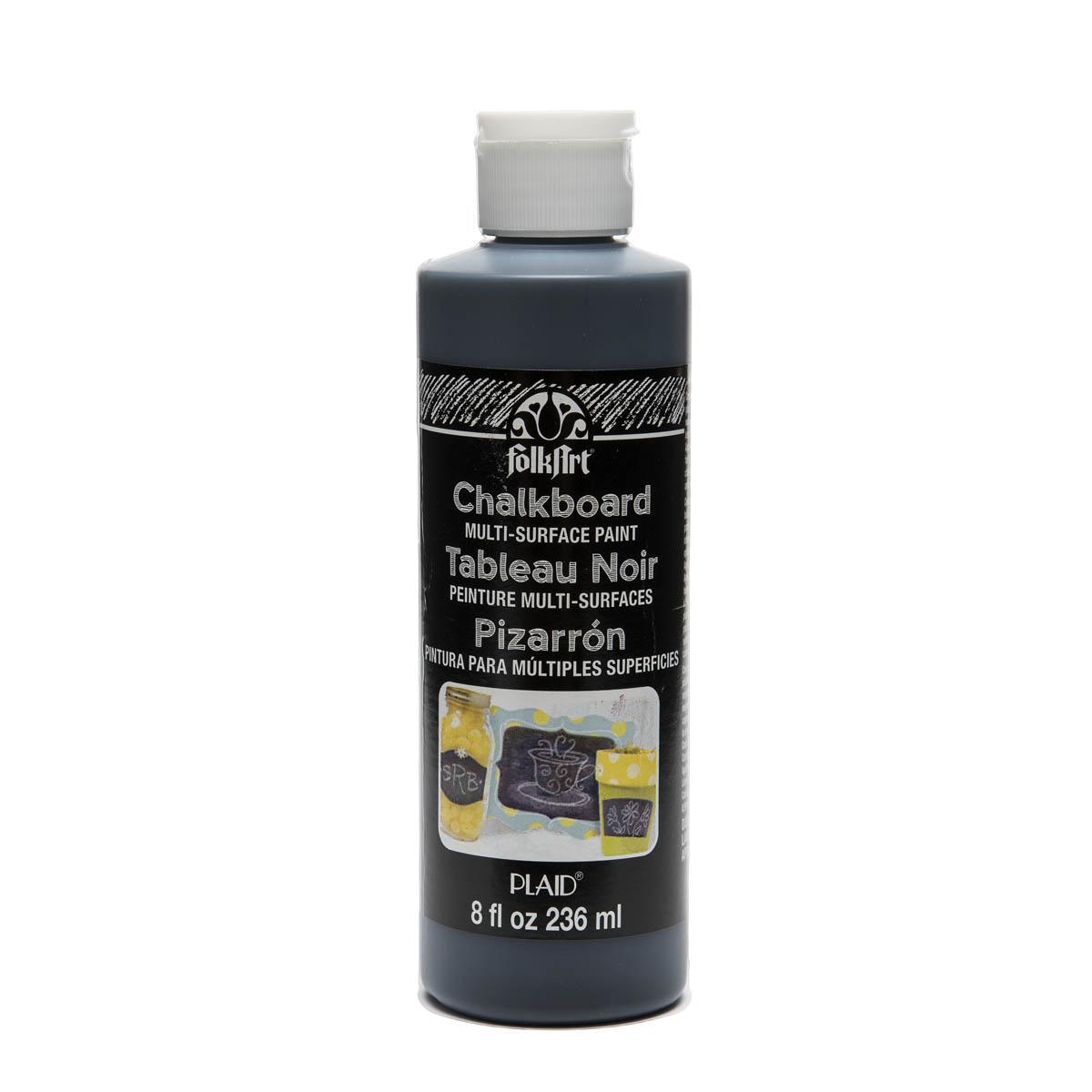 FolkArt ® Chalkboard Multi-Surface Paint - Black, 8 oz.