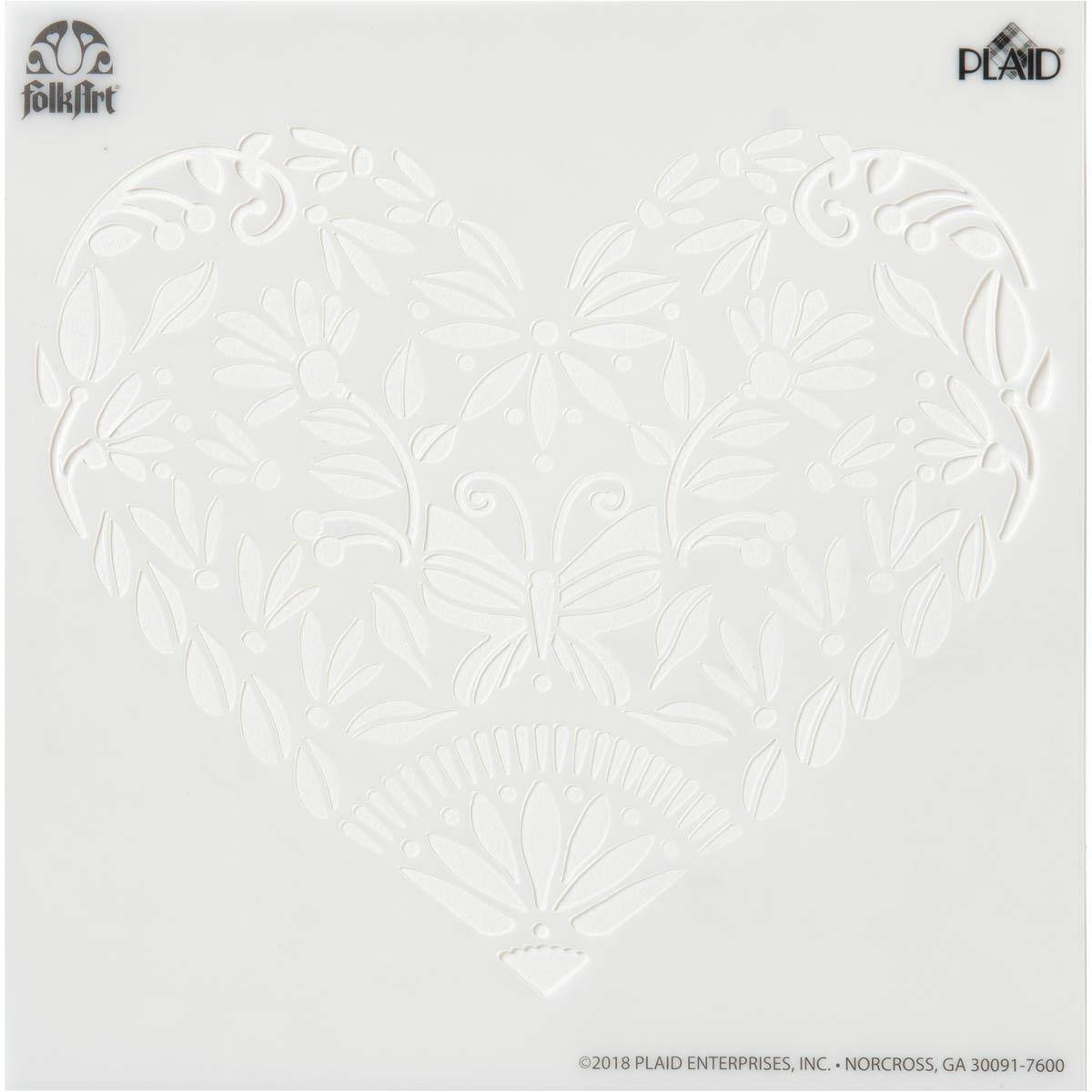 FolkArt ® Painting Stencils - Small - Folk Hearts