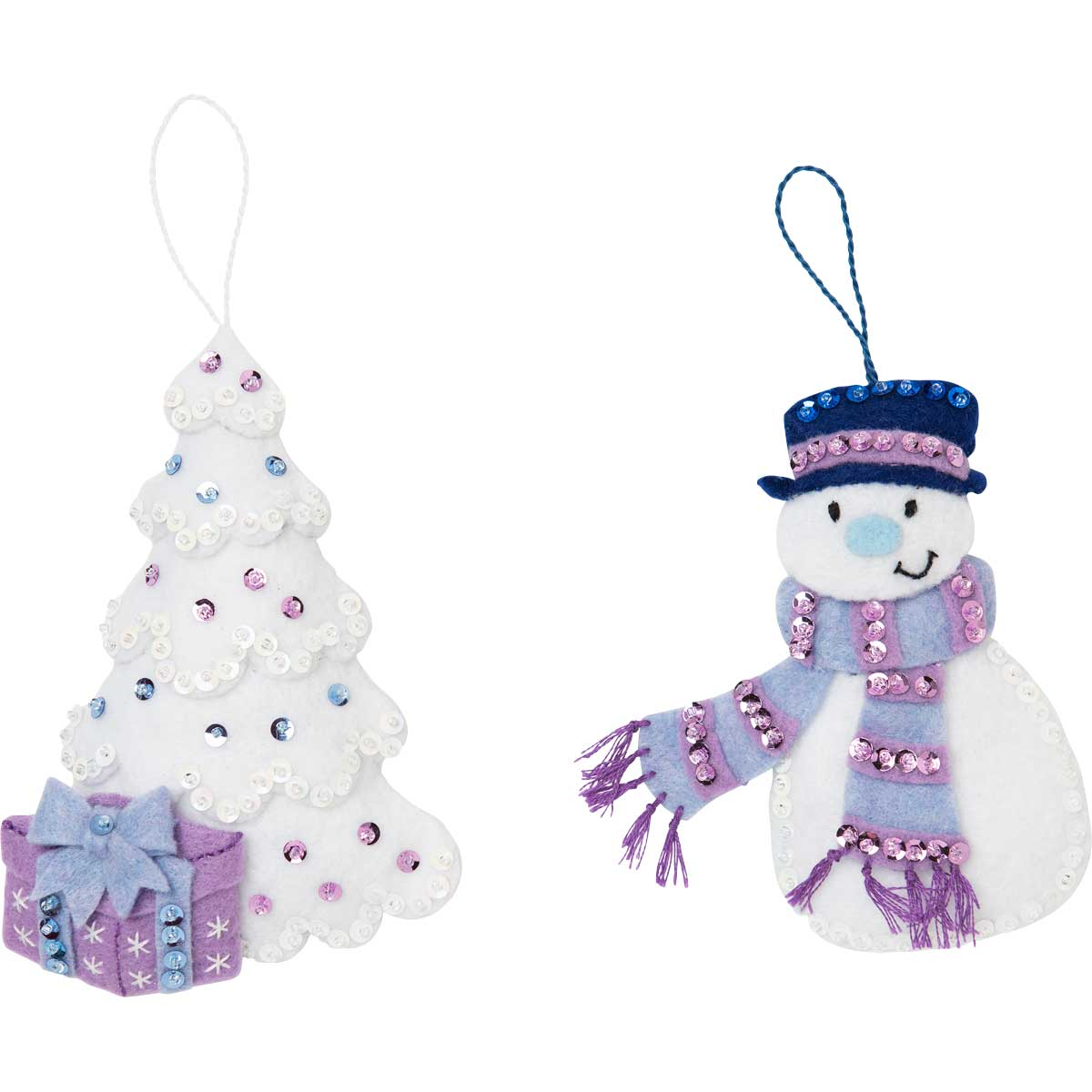 Bucilla ® Seasonal - Felt - Tree Trimmer Kits - Hallmark - Wintry Wonderland - 86889E
