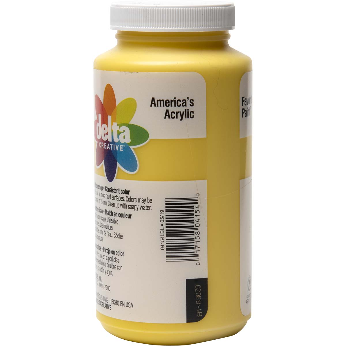 Delta Ceramcoat ® Acrylic Paint - Bright Yellow, 16 oz. - 04154