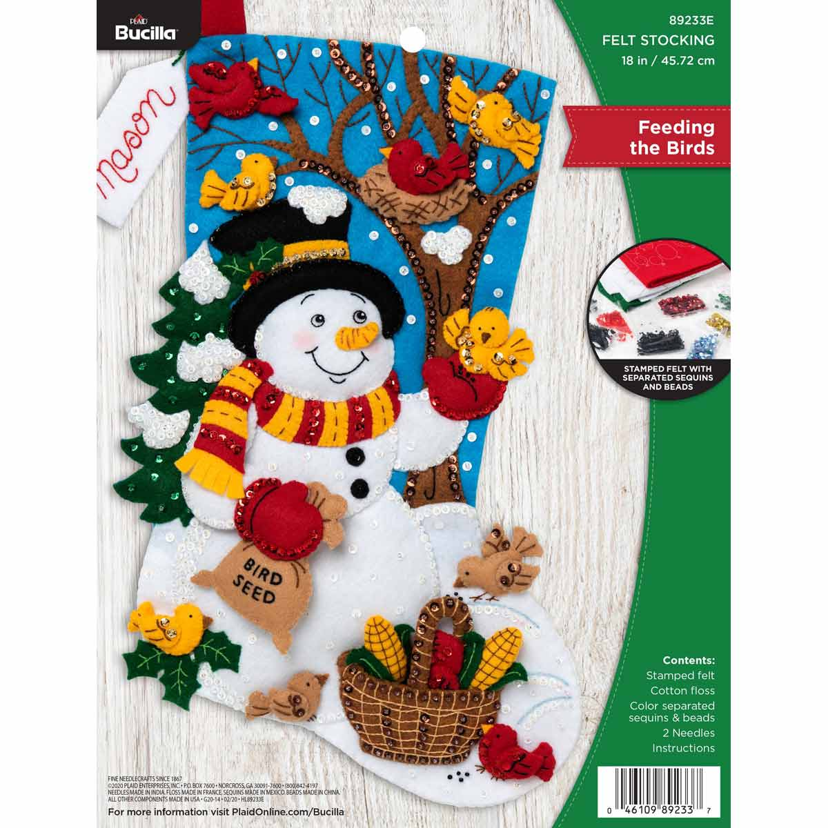 Bucilla ® Seasonal - Felt - Stocking Kits - Feeding the Birds - 89233E