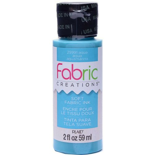 Fabric Creations™ Soft Fabric Inks - Aqua, 2 oz. - 25991