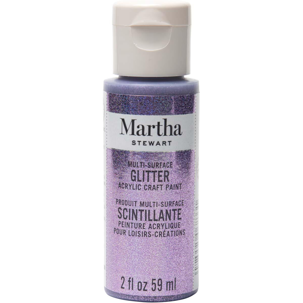 Martha Stewart ® Multi-Surface Glitter Acrylic Craft Paint - Charoite, 2 oz. - 32161CA