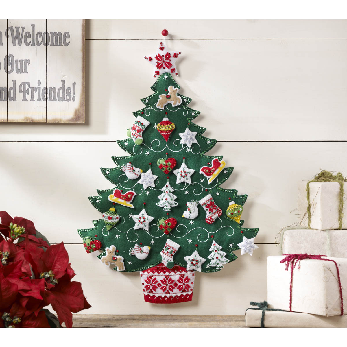 Bucilla ® Seasonal - Felt - Home Decor - Advent Calendar Kits - Nordic Tree