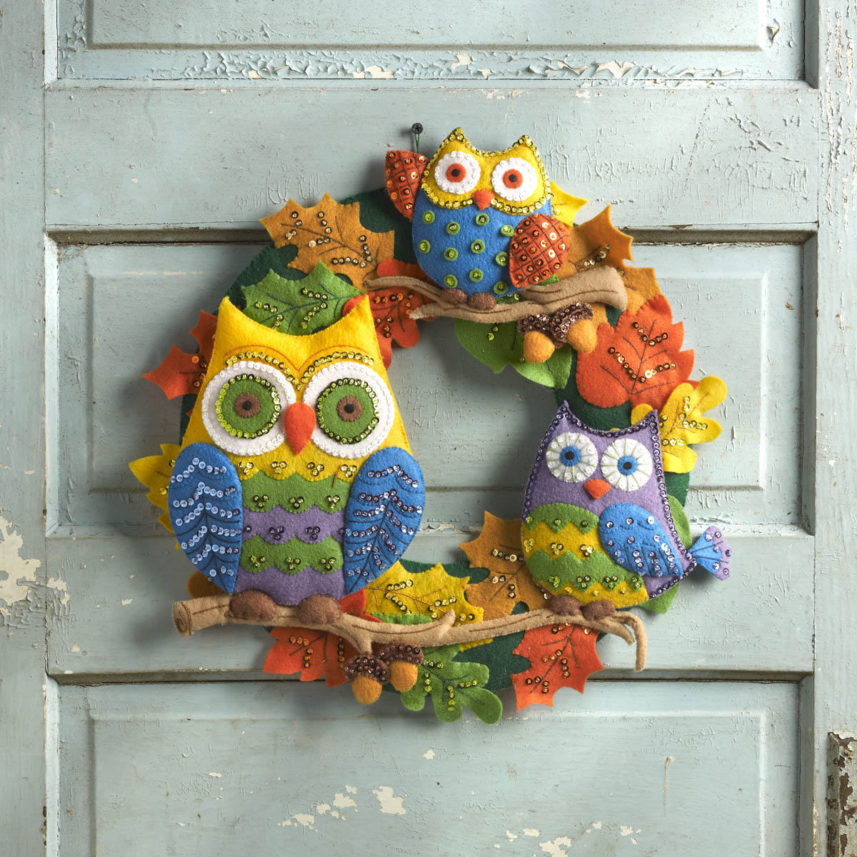 Bucilla ® Seasonal - Felt - Home Decor - Owl Wreath