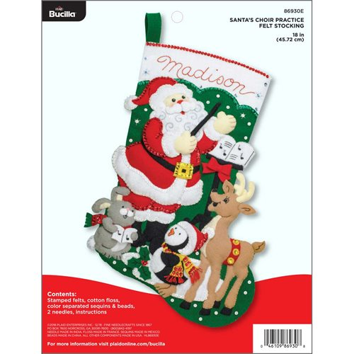 Bucilla ® Seasonal - Felt - Stocking Kits - Santa's Choir Practice
