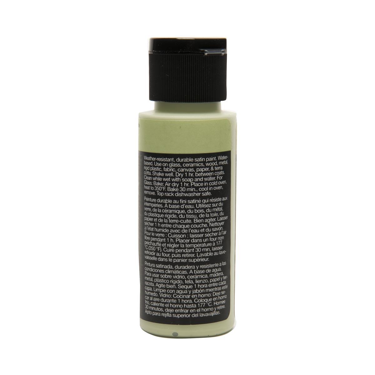 Delta Ceramcoat ® Select Multi-Surface Acrylic Paint - Satin - Green Tea, 2 oz.