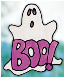 Halloween Boo! Ghost Cling
