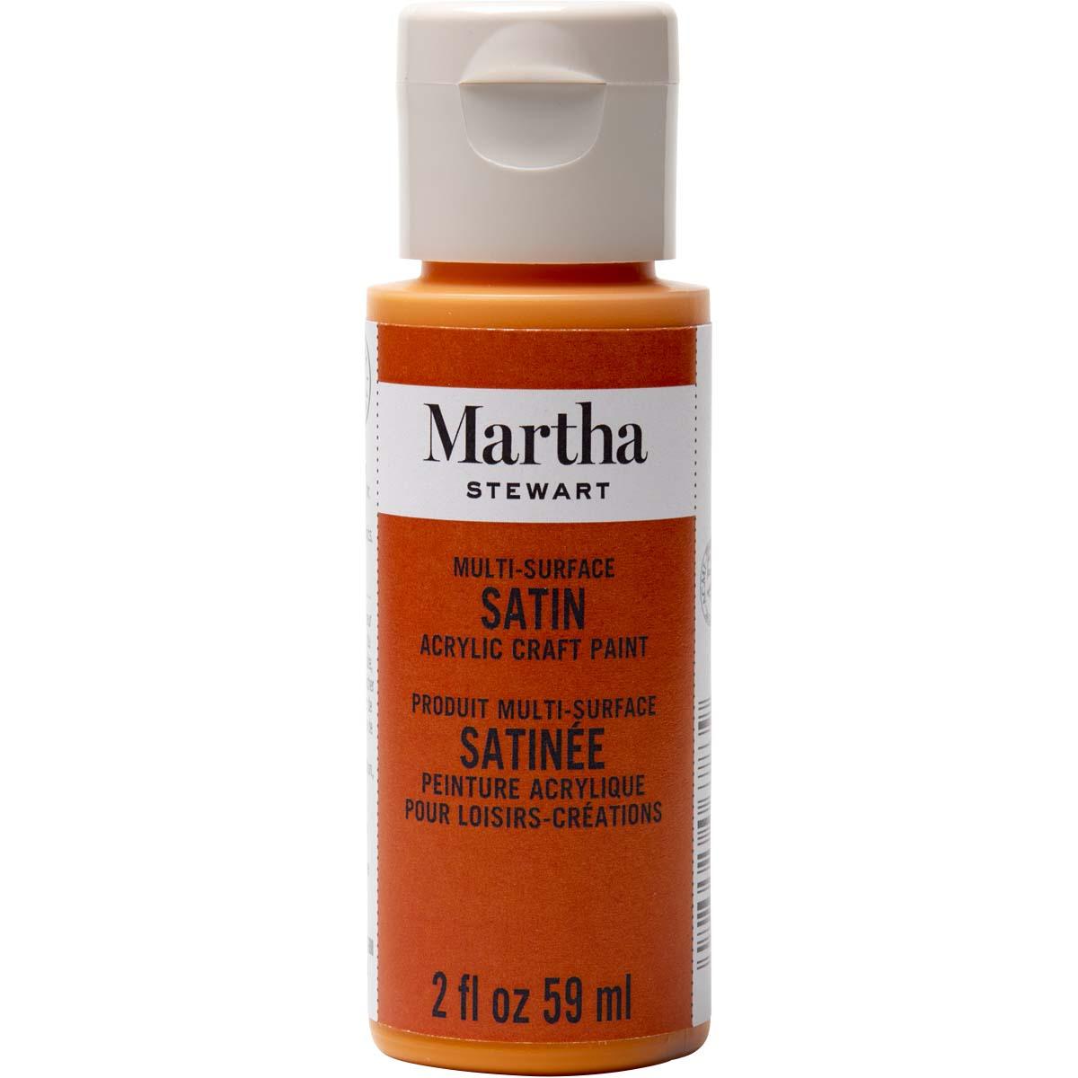 Martha Stewart ® Multi-Surface Satin Acrylic Craft Paint - Marmalade, 2 oz. - 32058CA
