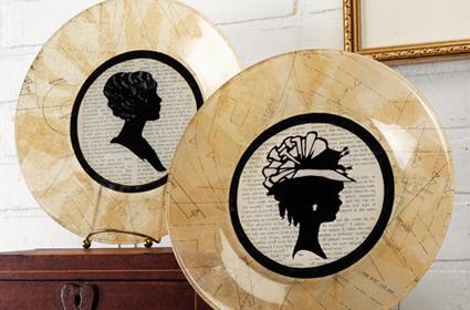 Vintage Style Plates