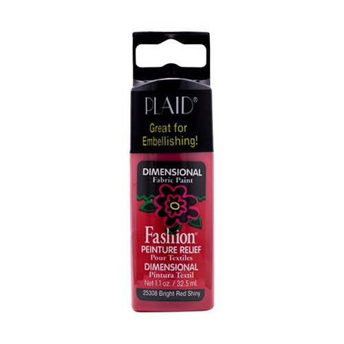 Fashion ® Dimensional Fabric Paint  - Shiny - Bright Red