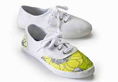 Fabric Covered Sneakers