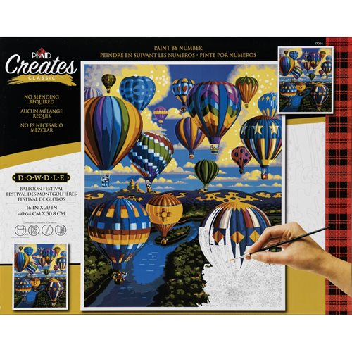 Plaid ® Paint by Number - Eric Dowdle™ - Balloon Festival