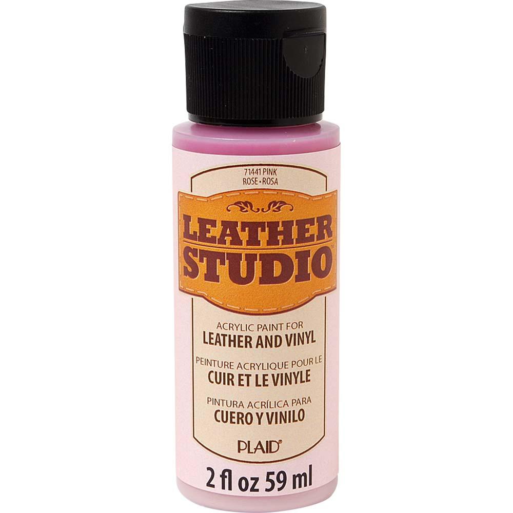 Leather Studio™ Leather & Vinyl Paint Colors - Pink, 2 oz.