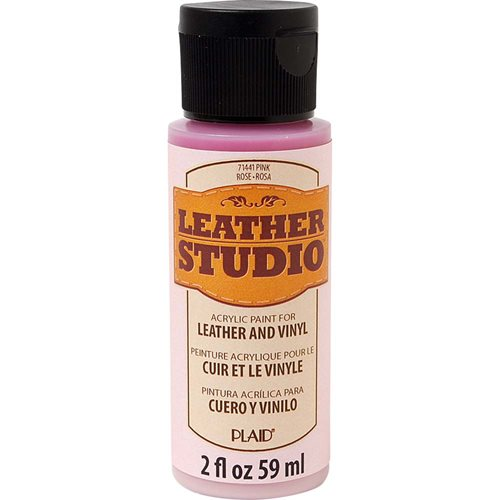 Leather Studio™ Leather & Vinyl Paint Colors - Pink, 2 oz.