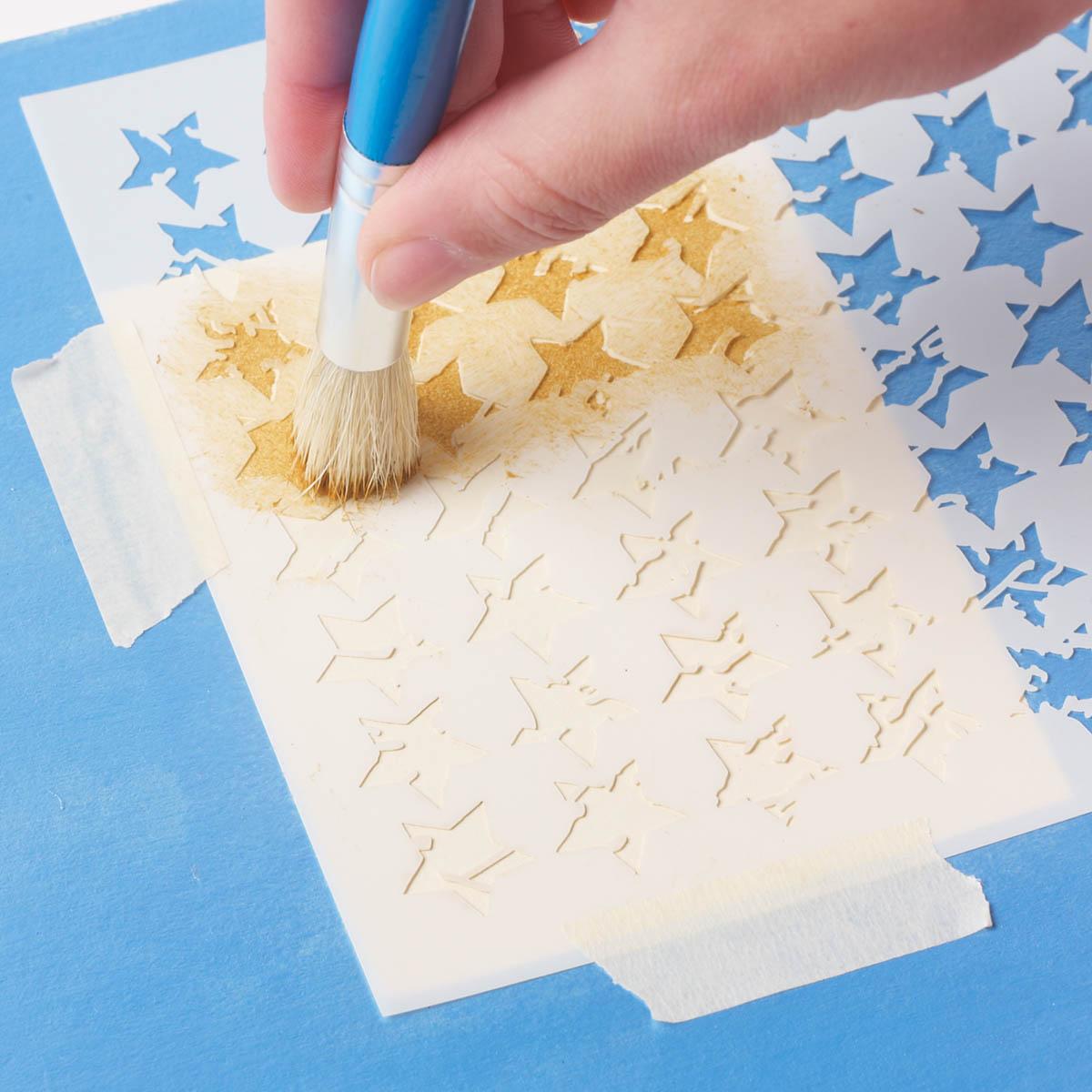 FolkArt ® Painting Stencils - Small - Distressed Stars - MS31046