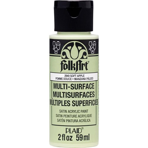 FolkArt ® Multi-Surface Satin Acrylic Paints - Soft Apple, 2 oz.