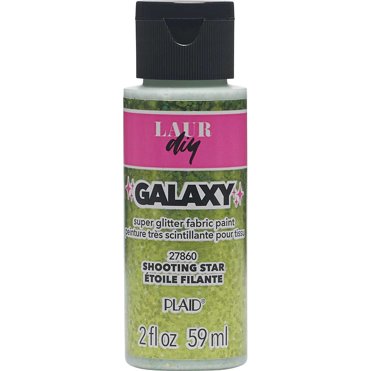 LaurDIY ® Galaxy Glitter Fabric Paint - Shooting Star, 2 oz.