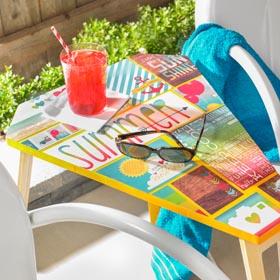 DIY Furniture Decoupage - Summer Table