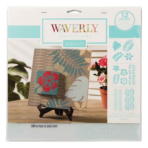 "Waverly ® Inspirations Laser Stencils - Décor - Leaves, 12"" x 12"""