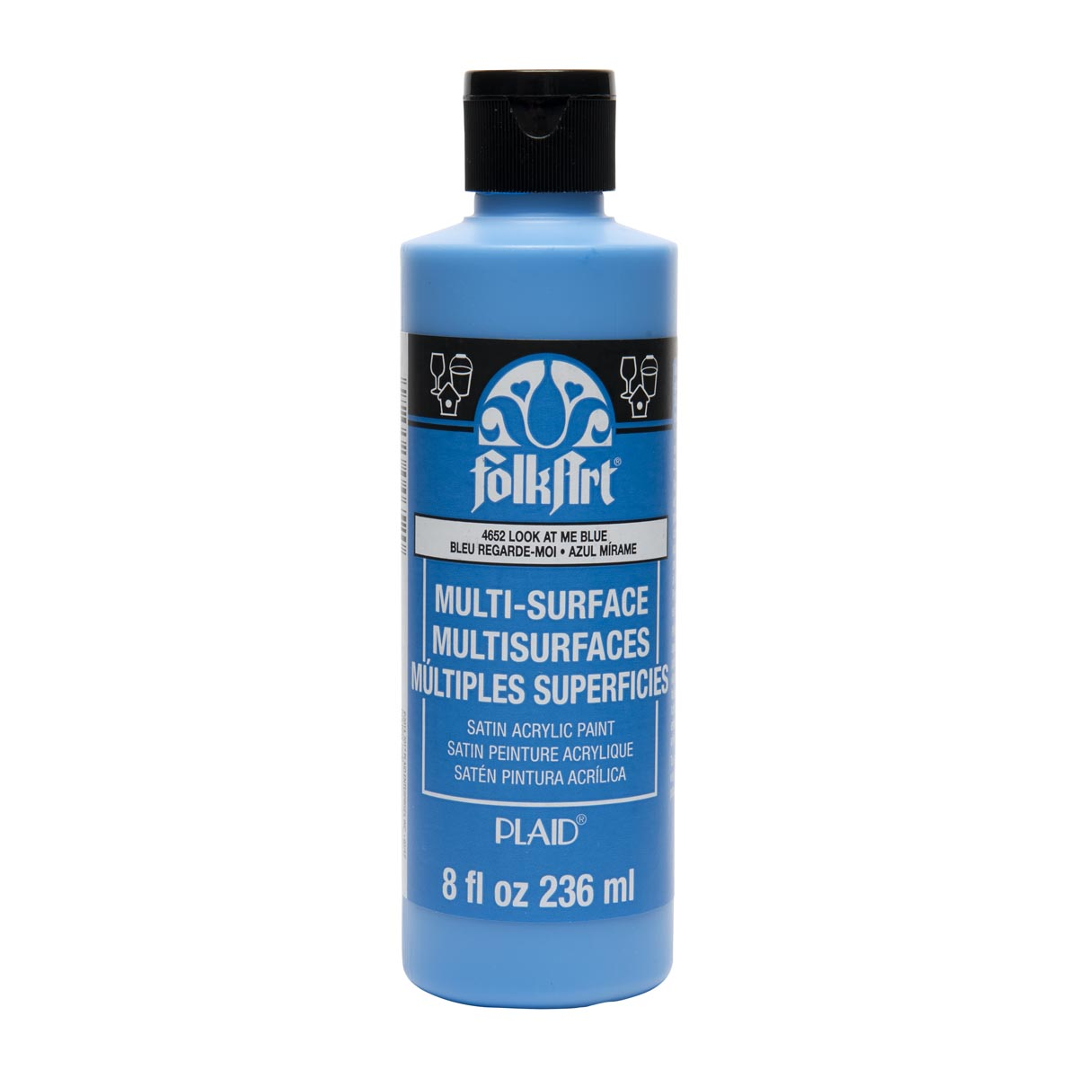 FolkArt ® Multi-Surface Satin Acrylic Paints - Look At Me Blue, 8 oz. - 4652