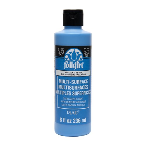 FolkArt ® Multi-Surface Satin Acrylic Paints - Look At Me Blue, 8 oz.