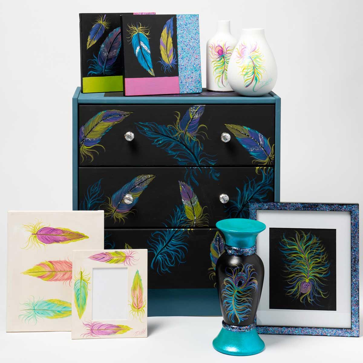 FolkArt ® One Stroke™ Color Shift™ and Glitterific™ Painting Kit - PROMOCSGK4