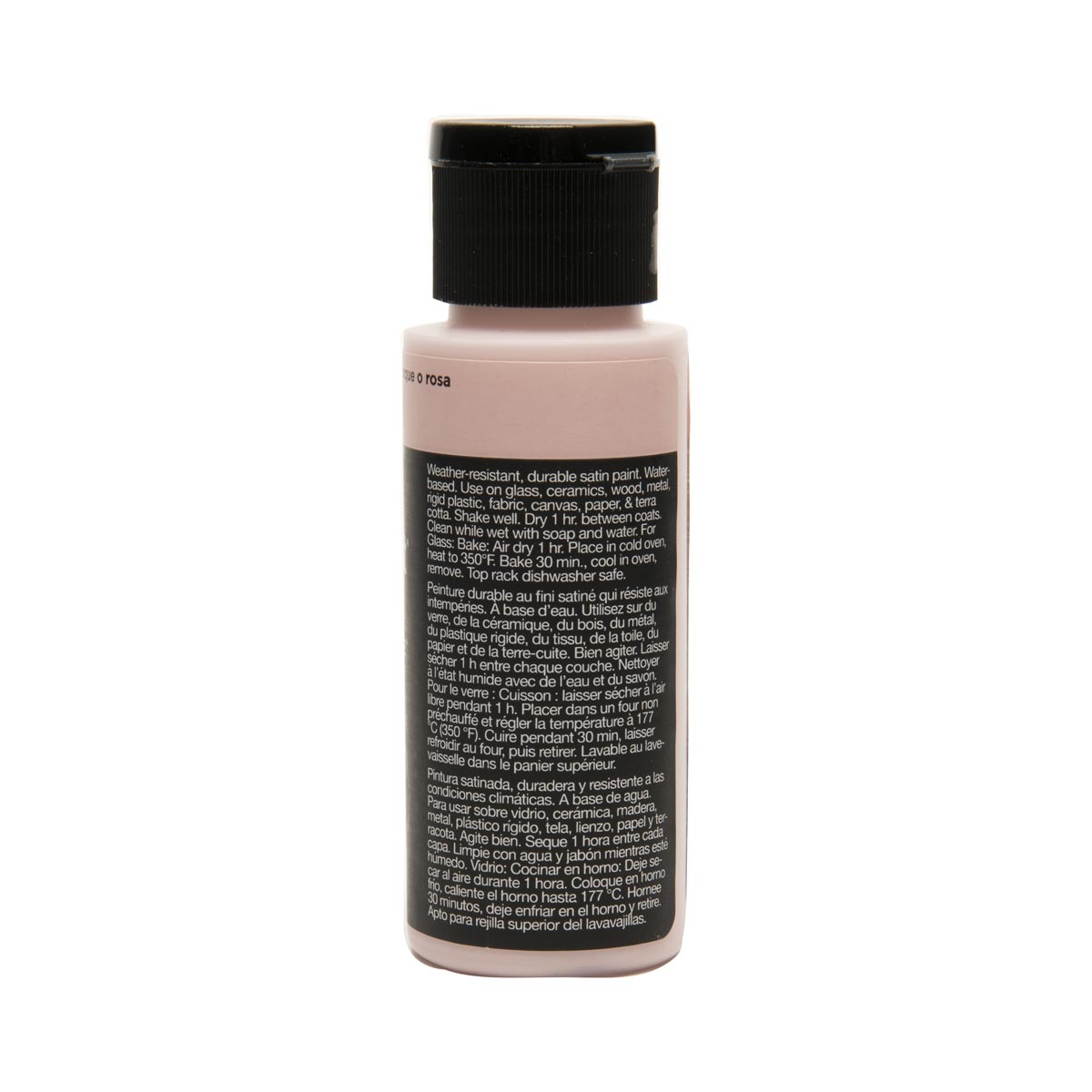 Delta Ceramcoat ® Select Multi-Surface Acrylic Paint - Satin - Touch O' Pink, 2 oz. - 02915