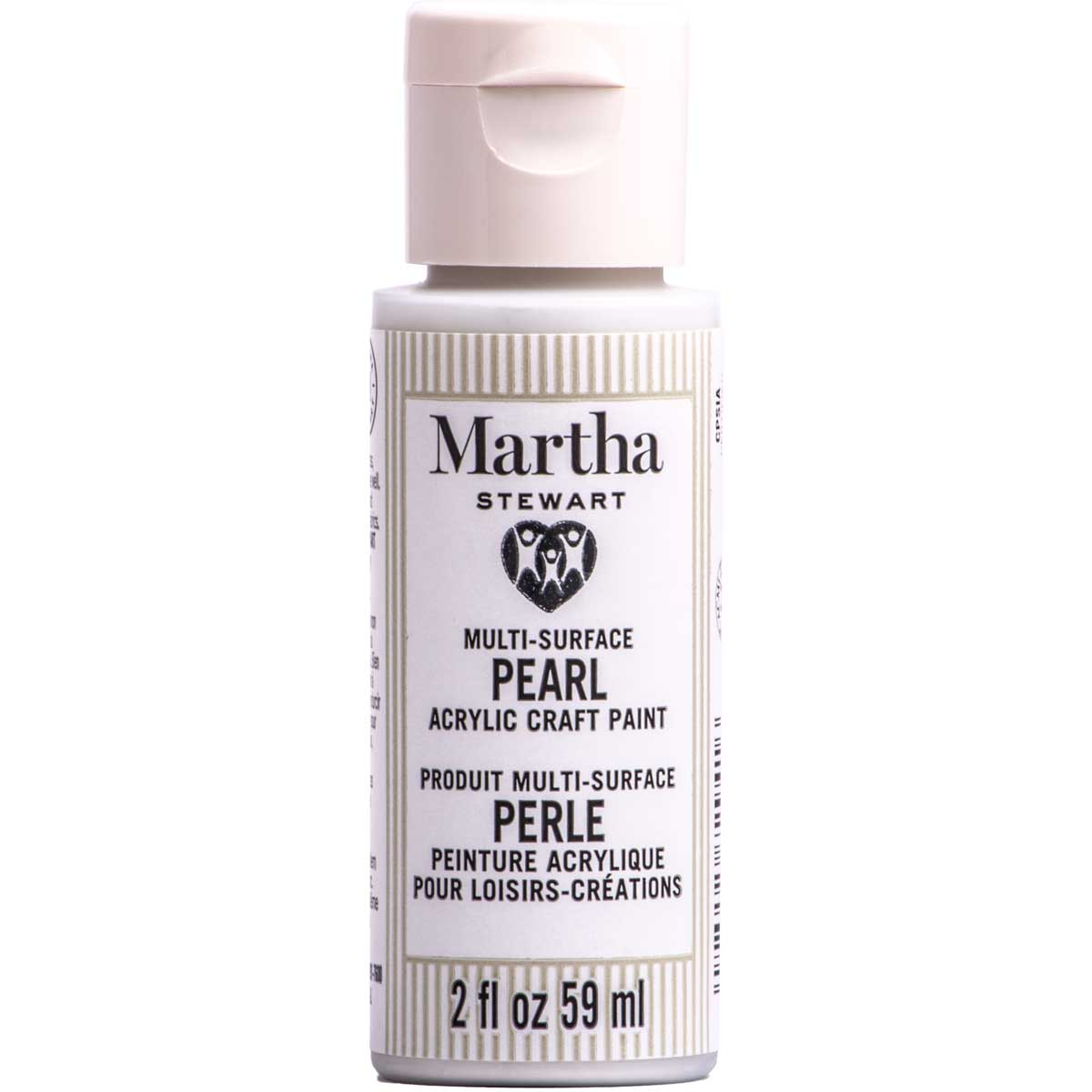 Martha Stewart ® Multi-Surface Pearl Acrylic Craft Paint CPSIA - Moonstone, 2 oz. - 72941