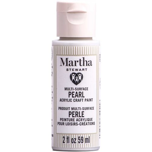 Martha Stewart ® Multi-Surface Pearl Acrylic Craft Paint CPSIA - Moonstone, 2 oz. - 72941