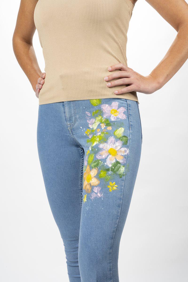 FolkArt Multi-Surface Flower Jeans