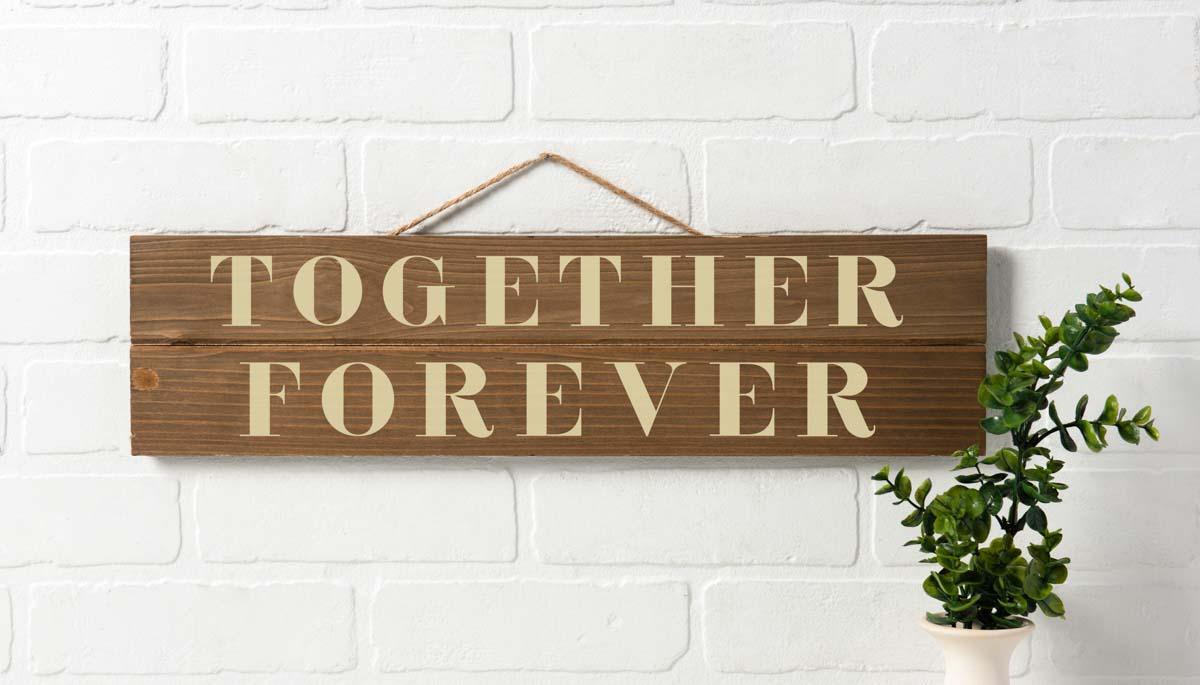 Together Forever DIY Stenciled Sign