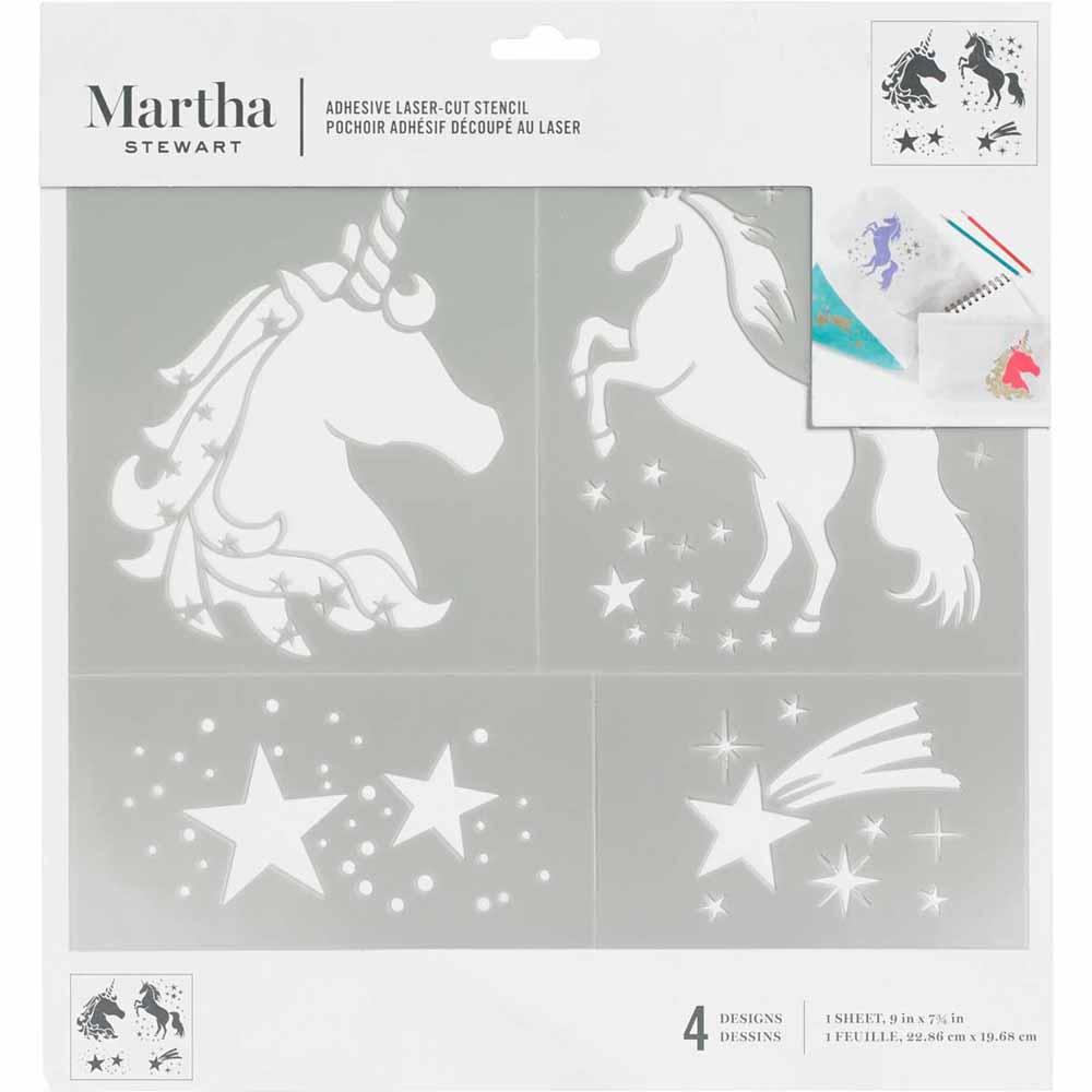 Martha Stewart® Adhesive Stencil - Unicorn