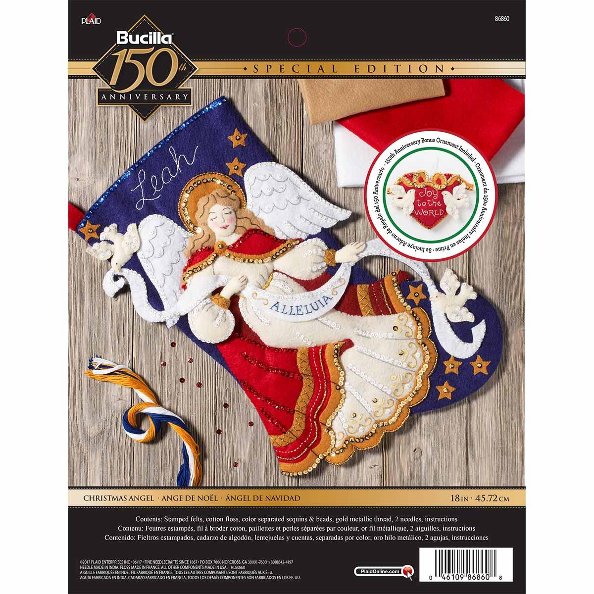 Bucilla ® Seasonal - Felt - Stocking Kits - Christmas Angel - 86860