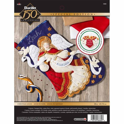 Bucilla ® Seasonal - Felt - Stocking Kits - Christmas Angel