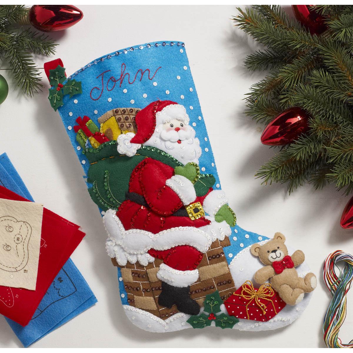 Bucilla ® Seasonal - Felt - Stocking Kits - Down The Chimney